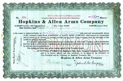 Hopkins & Allen Arms Company - Massachusetts 1915