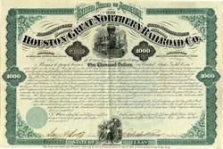 Houston and Great Northern Railroad Company - Texas 1872