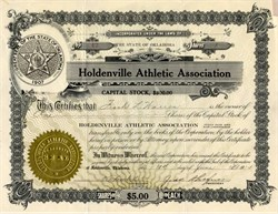 Holdenville Athletic Association - Holdenville, Oklahoma - 1914