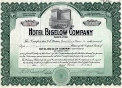 Hotel Bigelow Company - Ogden, Utah 1928