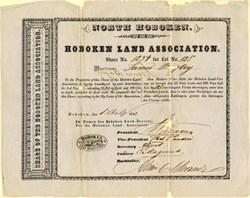 Hoboken Land Association 1852 - RARE