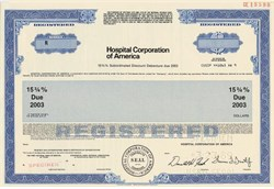 Hospital Corporation of America (High Yield 15 3/4% Bond) - Tennessee 1989