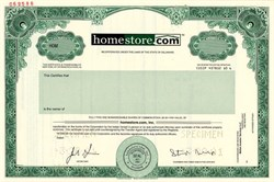 homestore.com with Stuart Wolff as president  ( Wolff  got 15-Year Sentence for fraud)