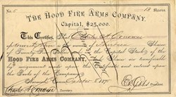Hood Fire Arms Company - Norwich, Connecticut 1875