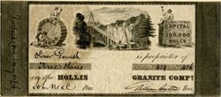 Hollis Granite Company - Portland, Maine 1833