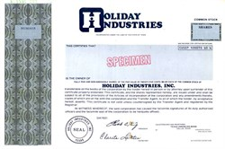 Holiday Industries, Inc.  - Texas 1979