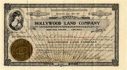 Hollywood Land Company - California 1911