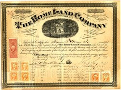 Home Land Company of Rutherfurd Park (Now Rutherford, Bergen County)  - New Jersey 1869