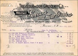 Holbrook Grocery Company (Jobbers of Pork and Lard)  - New Hampshire 1915