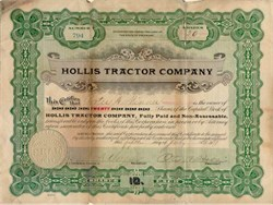 Hollis Tractor Company 1919