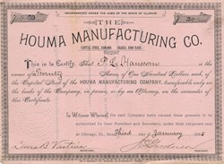 Houma Manufacturing Co. - Illinois 1885
