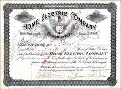 Home Electric Company 1894 - Pennsylvania