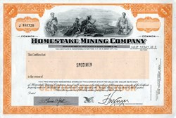 Homestake Mining Company SPECIMEN - Delaware 1983