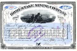Homestake Mining Company - New York 1906