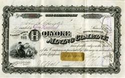 Holyoke Mining Company - American Banknote Company - New York 1886