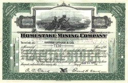 Homestake Mining Company - Indian vignette