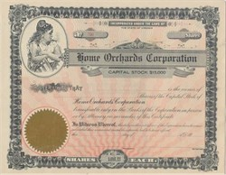 Home Orchards Corporation 1918