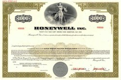 Honeywell,  Inc. Specimen Bond  -  Delaware