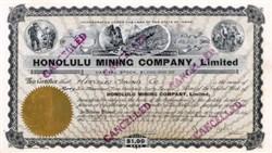 Honolulu Mining Company 1924