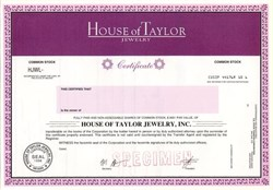 House of Taylor Jewelry (Actress Elizabeth Taylor ) - Nevada