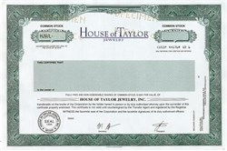 House of Taylor Jewelry, Inc (Elizabeth Taylor's Company) - Nevada
