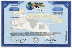 Horizon Organic Holding Corporation (RARE Specimen) - Cow Vignette - Delaware