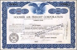Hoosier Air Freight Corporation ( Airborne Cargo Lines ) 1947