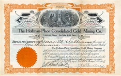 Hoffman - Place Consolidated Gold Mining Company - Arizona 1906