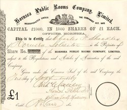 Hornsea Public Rooms Company, Limited - England 1869