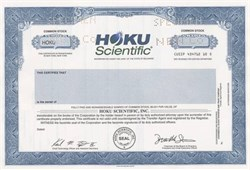 Hoku Scientific - Delaware
