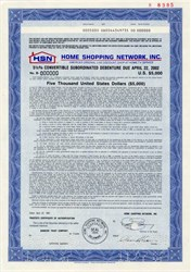 Home Shopping Network, Inc. -  Specimen Convertible Debt - 1987