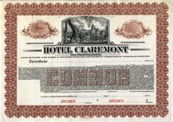 Hotel Claremont, Incorporated - Berkeley, California 1915