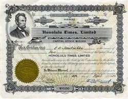 Honolulu Times, Limited - Hawaii 1925