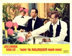 How To Murder Your Wife Lobby Card Starring Jack Lemmon and Virna Lisi - 1965