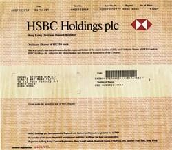 HSBC Holdings plc - Hong Kong Overseas Branch Register - 1991