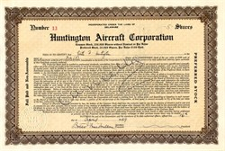 Huntington Aircraft Corporation - Delaware 1929