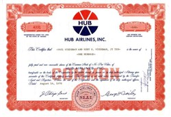 Hub Airlines, Incorporated Fort Wayne, Indiana 1970