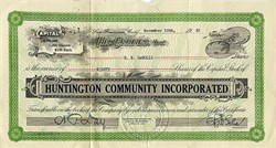 Huntington Community, Incorporated - San Francisco, California 1932