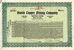 Huron Copper Mining Company - Yavapai. Big Bug,  Arizona 1923