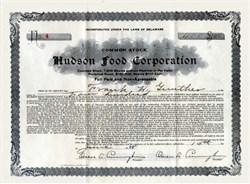 Hudson Food Corporation 1928