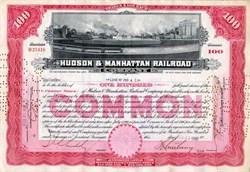 Hudson & Manhattan Railroad Company - Hudson River cross sectional vignette
