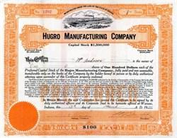 Hugro Manufacturing Company 1920 - Indiana