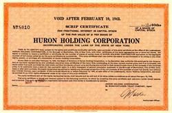 Huron Holding Corporation - New York 1937