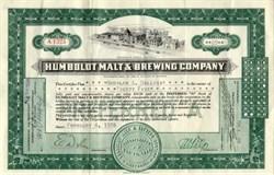 Humboldt Malt and Brewing Company - Eureka, California 1938