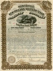Huntsville, New Orleans and Western Texas Railway Company 1882
