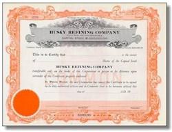 Husky Refining Company Stock Certificate