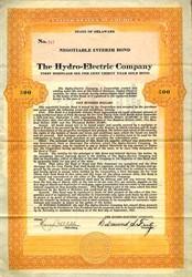 Hydro-Electric Company - Delaware 1923