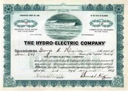 Hydro - Electric Company - Delaware 1923