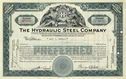 Hydraulic Steel Company Stock 1920's