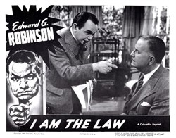 I Am The Law Lobby Card Starring Edward G. Robinson - 1955